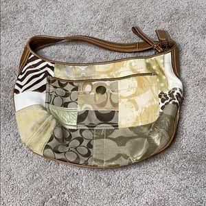 Coach patchwork shoulder bag